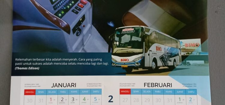 Cetak Kalender Bimo Transport