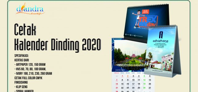Kalender Artpaper 120 Gram 2020